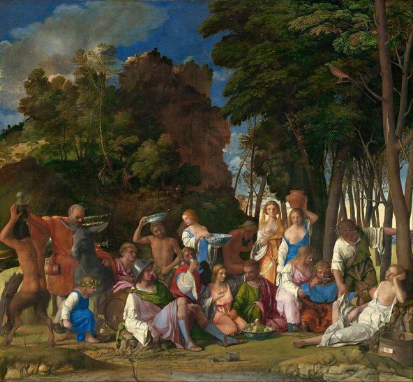 Bellini and Titian, The Feast of the Gods. Credit: Wikimedia Commons
