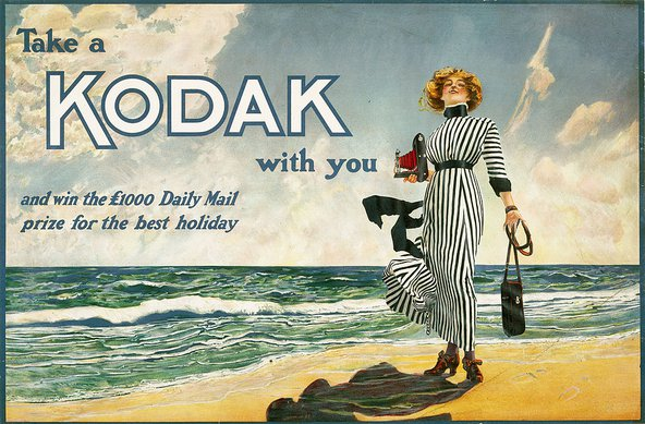 Colour poster produced for Kodak Ltd, showing the
