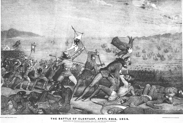 Lithograph-W-H-Holbrooke-Battle-Clontarf.png