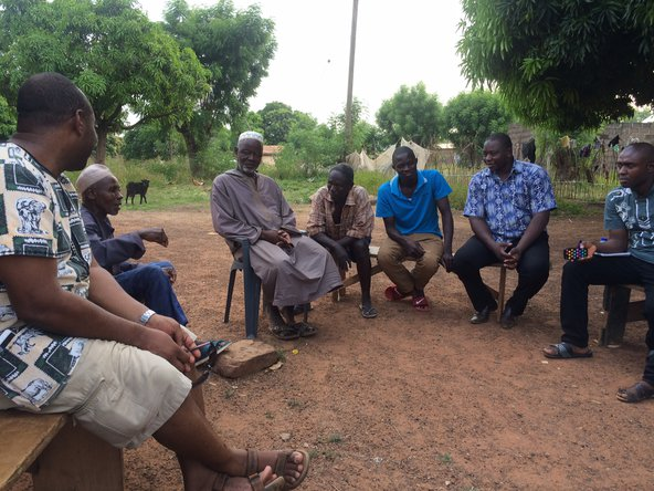 Meeting with local leaders in Tamale