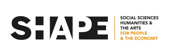 Logo for SHAPE, which stands for Social Sciences, Humanities and the Arts for the People and the Economy