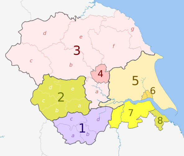 The Yorkshire and Humber region