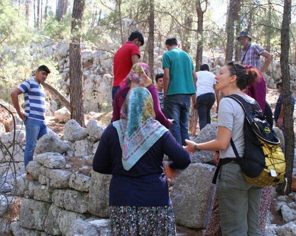 Visiting the ancient site of Sia with the locals from the nearby village, Karaot photo credit: Michele Massa.
