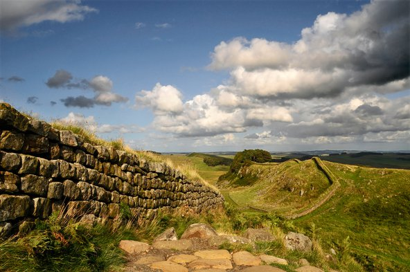 Hadrian's Wall, a World Heritage Site.